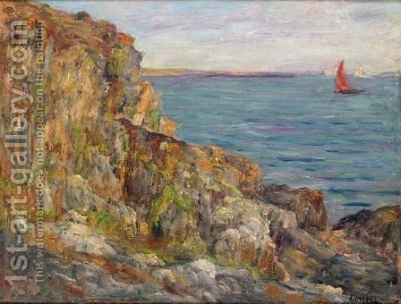 Evening On The Coast Of Brittany by Aloysius O'kelly - Reproduction Oil Painting
