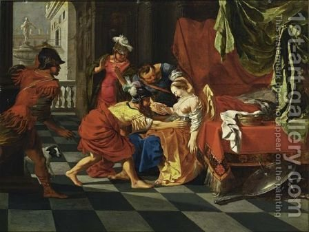 The Death Of Lucretia by (after) Bertholet Flemal - Reproduction Oil Painting