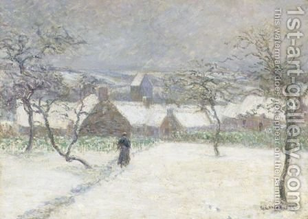 La Neige A Mortain by Gustave Loiseau - Reproduction Oil Painting