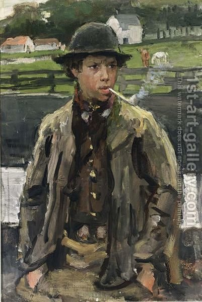 A Walcheren Boy by Isaac Israels - Reproduction Oil Painting