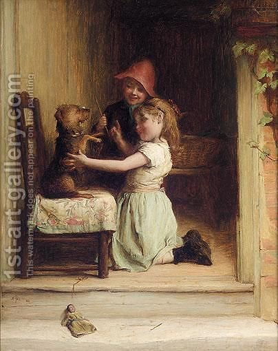Obedience by Alexander Hohenlohe Burr - Reproduction Oil Painting
