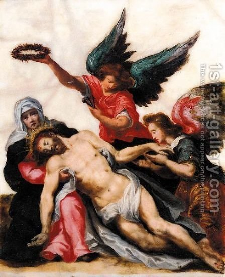 The Lamentation by Italian School - Reproduction Oil Painting