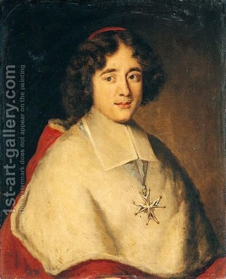 Portrait Of Cardinal De Bouillon by Jacob Ferdinand Voet - Reproduction Oil Painting
