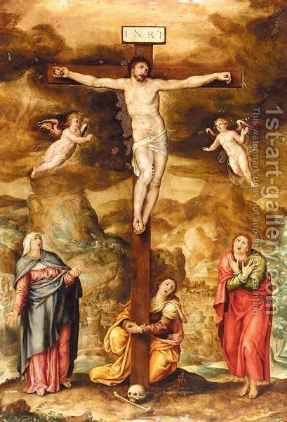 The Crucifixion by (after) Marcello Venusti - Reproduction Oil Painting