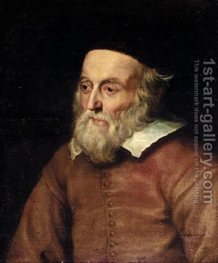 Portrait Of A Rabbi, Half Length, Wearing A Red Jacket And A Fur Hat by (after) Adriaen Hanneman - Reproduction Oil Painting