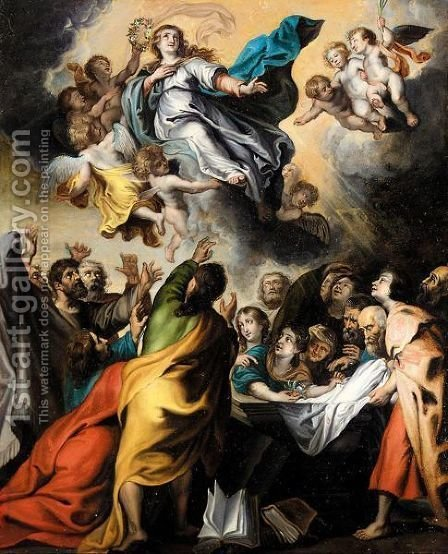 The Assumption Of The Virgin by (after) Sir Peter Paul Rubens - Reproduction Oil Painting