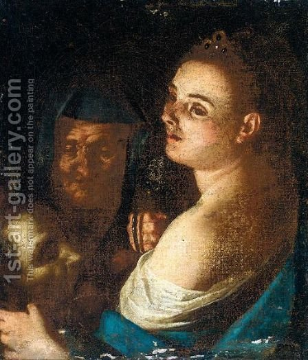 Judith With The Head Of Holofernes And Her Maidservant by (after) Gaspare Traversi - Reproduction Oil Painting