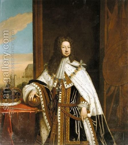 Portrait Of George I (1660-1727) by (after) Kneller, Sir Godfrey - Reproduction Oil Painting