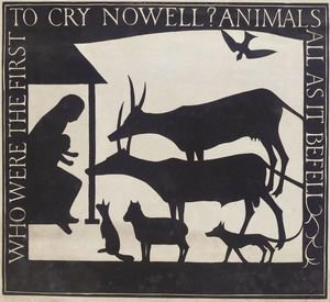 Reproduction oil paintings - Eric Gill - The Nativity Who Were The First To Cry Nowell Animals All As It Befell