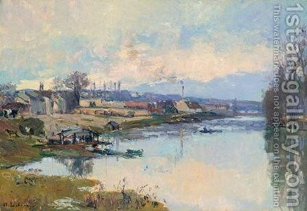 La Seine A Port-Marly by Albert Lebourg - Reproduction Oil Painting