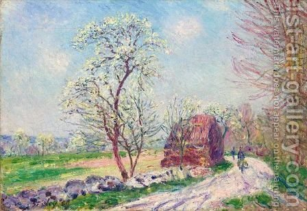Le Chemin De Butte - Retour En Foret by Alfred Sisley - Reproduction Oil Painting