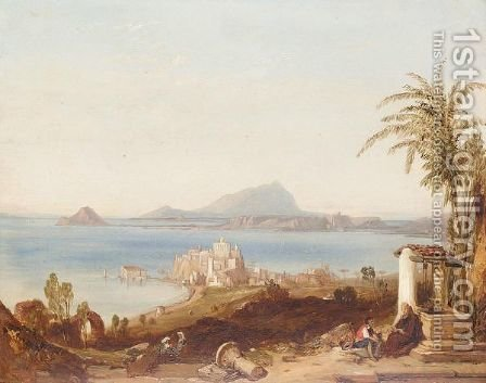 The bay of baia from pozzuoli by (after) William Clarkson Stanfield - Reproduction Oil Painting