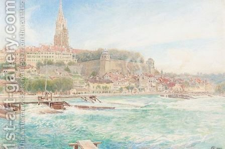 View of Berne by Harry Goodwin - Reproduction Oil Painting