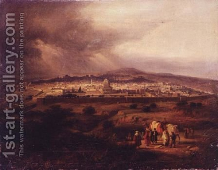 View Of Jerusalem by (after) David Roberts - Reproduction Oil Painting
