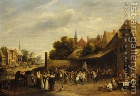 A Village Kermesse by (after)  David The Younger Teniers - Reproduction Oil Painting