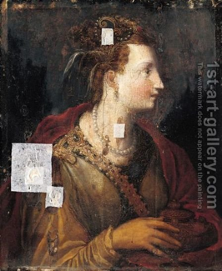 Mary Magdelene by (after)  Francesco (Il Poppi) Morandini - Reproduction Oil Painting