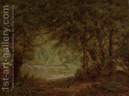 River Through The Woods by Alexander Helwig Wyant - Reproduction Oil Painting