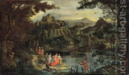 Ritrovamento Di Mose by (after) Hendrik Van Balen, I - Reproduction Oil Painting