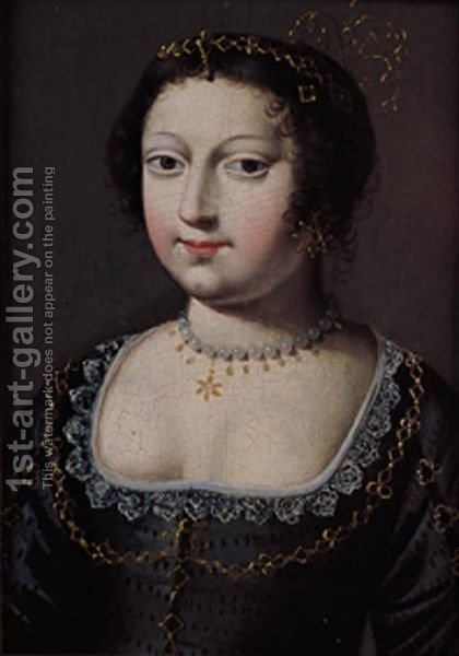 Ritratto Di Gentildonna by (after) Claude Deruet - Reproduction Oil Painting