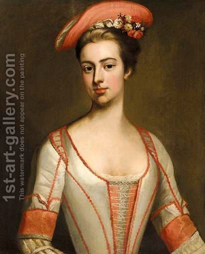 Portrait Of Henrietta Hobart, Countess Of Suffolk (1681-1767) by (after) Dahl, Michael - Reproduction Oil Painting