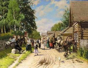 Reproduction oil paintings - Aleksandr Vladimirovich Makovsky - Russian Provincial Village