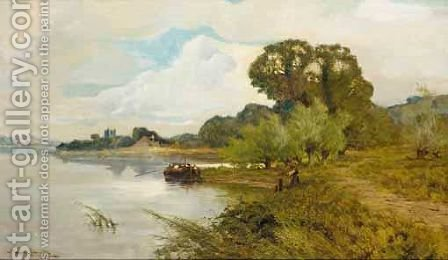 Mooring On The River by Harry Pennell - Reproduction Oil Painting