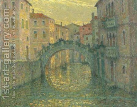 Le Matin, Soleil, Venise by Henri Eugene Augustin Le Sidaner - Reproduction Oil Painting