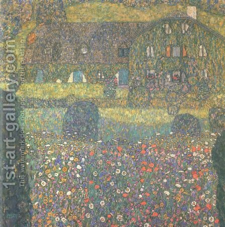 Landhaus Am Attersee by Gustav Klimt - Reproduction Oil Painting