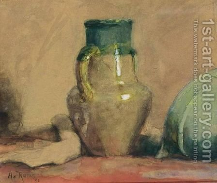 A Still Life With A Jug by Alexander Gerhard Anton Ridder Van Rappard - Reproduction Oil Painting
