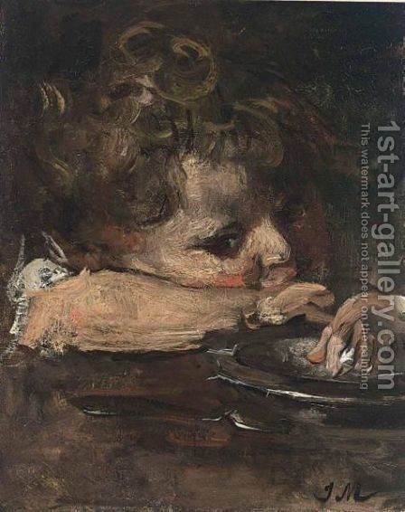 Portrait Of A Child by Jacob Henricus Maris - Reproduction Oil Painting