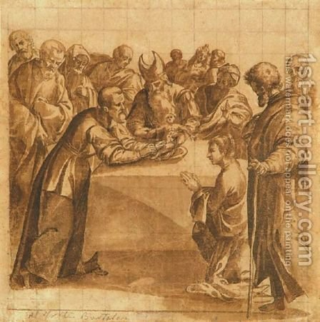 Circumcision by Italian School - Reproduction Oil Painting