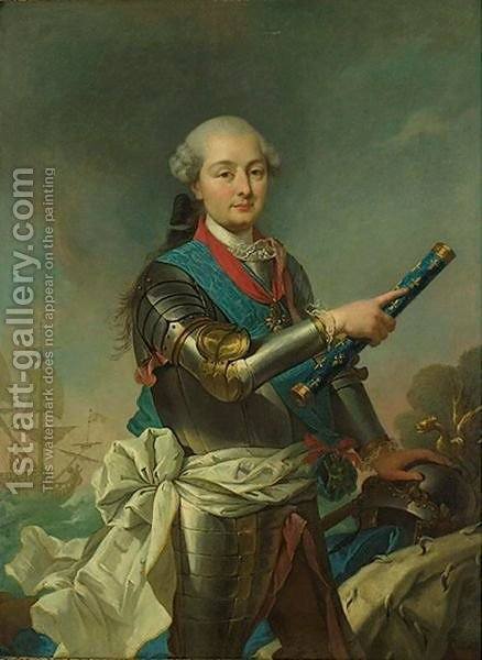 Portrait Of An Admiral by (after) Louis Michel Van Loo - Reproduction Oil Painting