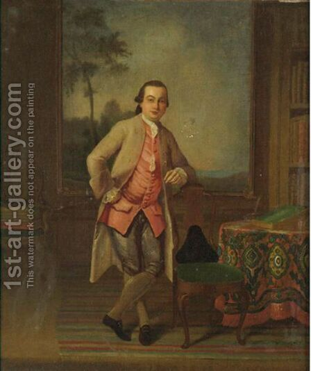 Portrait Of A Gentleman by (after) Arthur Devis - Reproduction Oil Painting