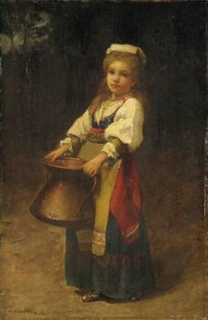 Reproduction oil paintings - William Lippincott - The Little Helper