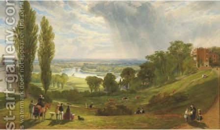 The Thames From Richmond Hill by Alexander F. Rolfe - Reproduction Oil Painting
