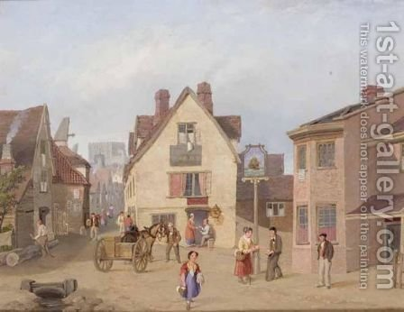 The Cinder Oven, Norwich by Henry Nineham - Reproduction Oil Painting