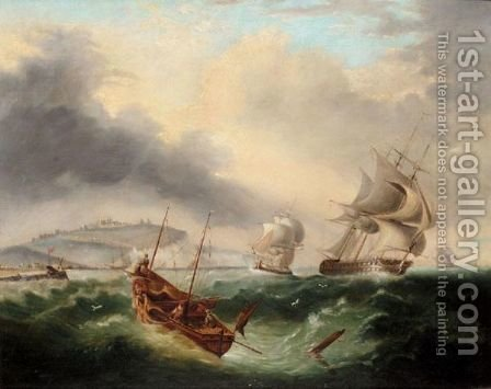 Shipping Off Dover by (after) Henry Redmore - Reproduction Oil Painting