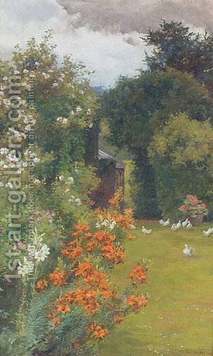Orange Lilies by Alfred Parsons - Reproduction Oil Painting