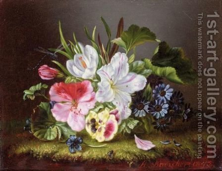 Still Life Of Flowers by Amalie Kaercher - Reproduction Oil Painting