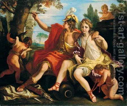 Angelica And Medoro by (after) Sebastiano Ricci - Reproduction Oil Painting