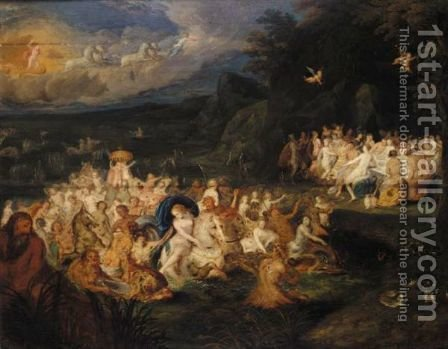The Triumph Of Neptune And Amphitrite 2 by (after) Frans II Francken - Reproduction Oil Painting