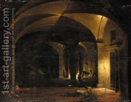 The Liberation Of Saint Peter by (after) Hendrick Van Steenwijck II - Reproduction Oil Painting