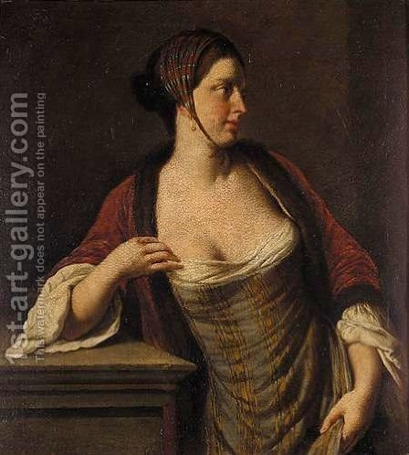 Portrait Of A Lady 2 by (after) Pietro Antonio Rotari - Reproduction Oil Painting
