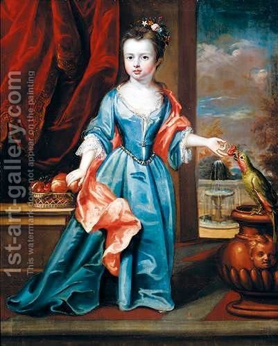 Portrait Of A Girl by (after) Philip Van Dyck - Reproduction Oil Painting
