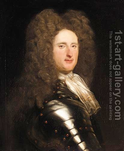 Portrait Of Maurice Johnson (1688-1775) by (after) Kneller, Sir Godfrey - Reproduction Oil Painting