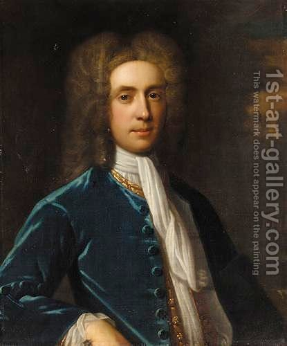 Portrait Of William Mackworth Praed (1694-1752) Of Trevethoe, Cornwall by (after) Enoch Seeman - Reproduction Oil Painting