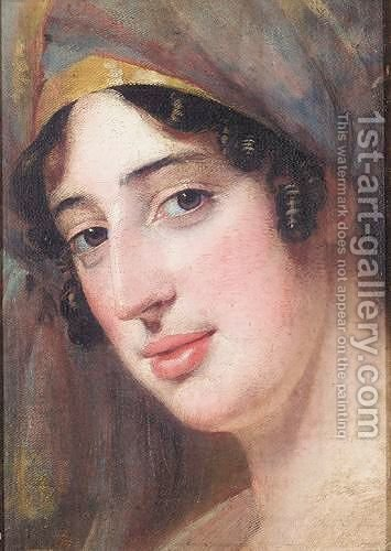 Study Of A Head by (after) Sir Joshua Reynolds - Reproduction Oil Painting