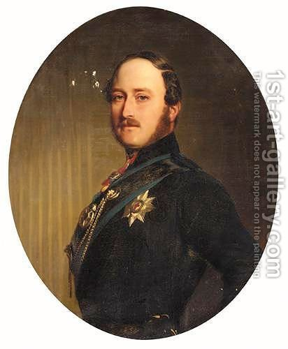 Portrait Of Albert, Prince Consort (1819-1861) by (after) Franz Xaver Winterhalter - Reproduction Oil Painting