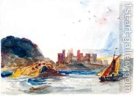 Conway Castle, North Wales by (after) Peter De Wint - Reproduction Oil Painting