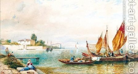 Riverside Scenes by Henry Thomas Dawson - Reproduction Oil Painting
